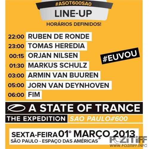 Armin van Buuren - A State Of Trance 600 - Live @ Sao Paolo, Brazil (02-03-2013)